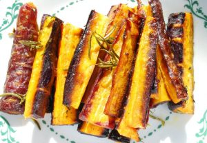 Thyme and Rosemary Roasted Carrots