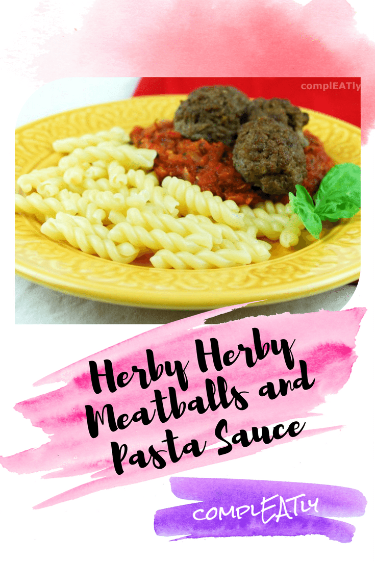 Herby Herby Meatballs and Pasta Sauce