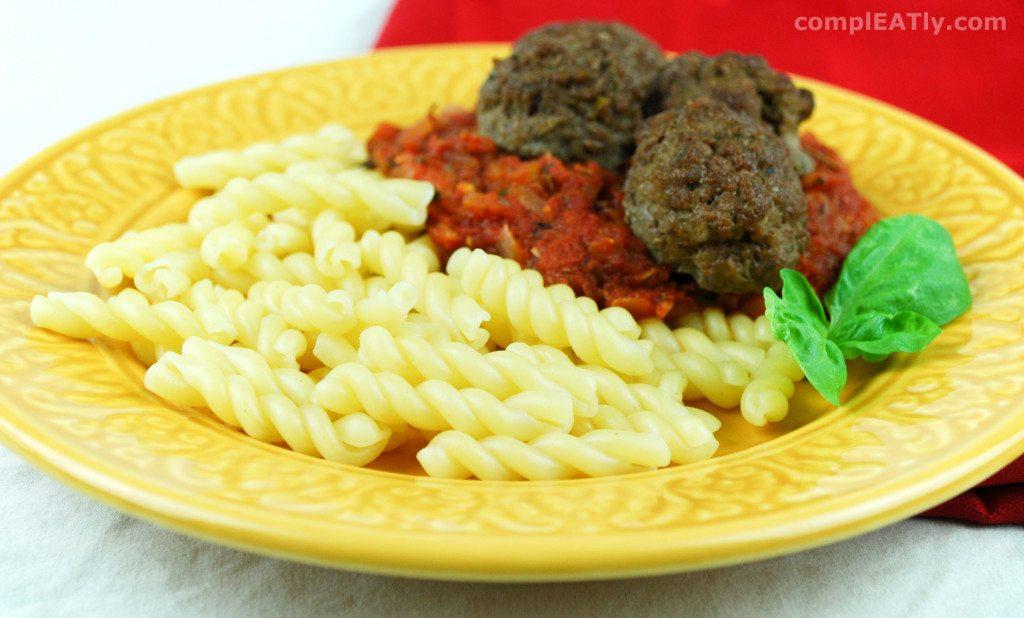 Pasta, Sauce, and Meatballs