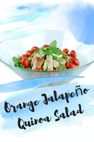 Orange Jalapeño Quinoa Salad