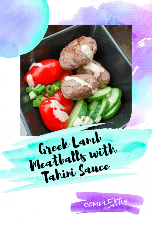 Greek Lamb Meatballs with Tahini Sauce
