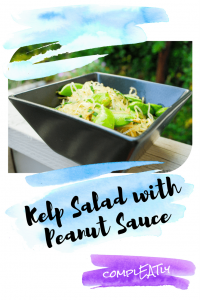 Kelp Salad with Peanut Sauce