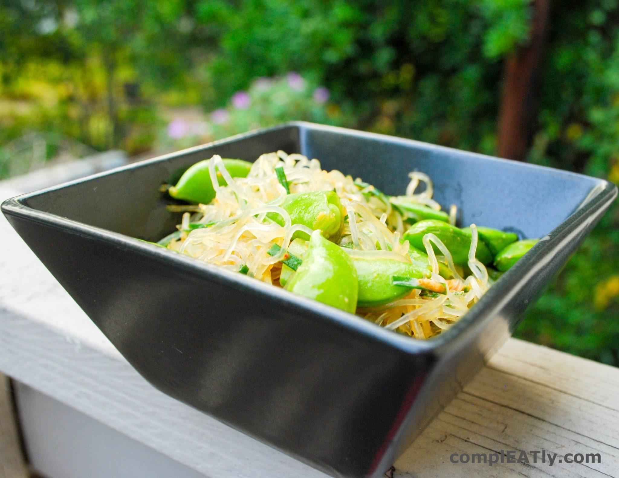 Kelp Noodle Salad with Peanut Sauce