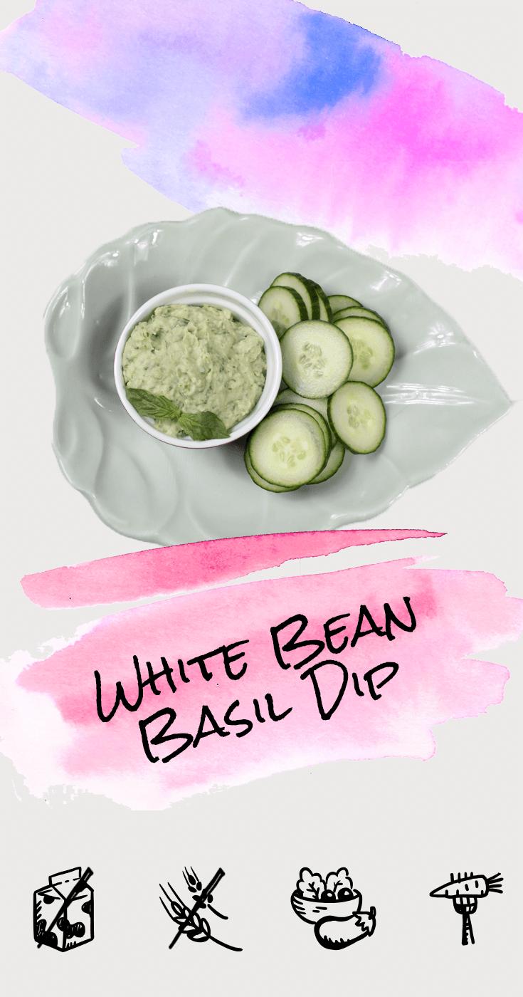 White Bean Basil Dip