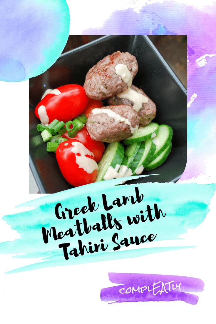 Greek Lamb Meatballs With Tahini Sauce Compleatly