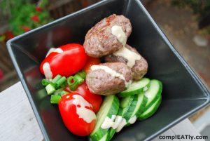 Greek Meatballs with Tahini Sauce