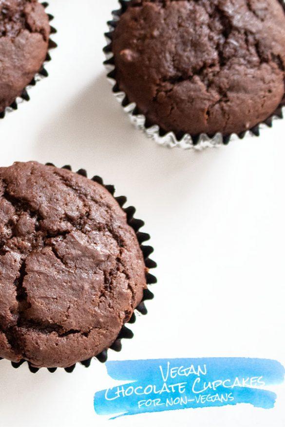 Vegan Chocolate Cupcakes for Non-vegans